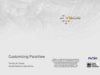 Customizing ParaView