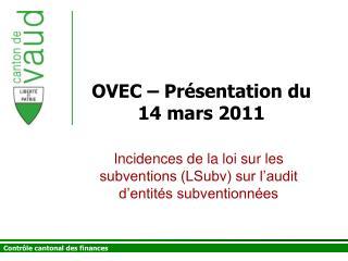 OVEC   Pr sentation du 14 mars 2011