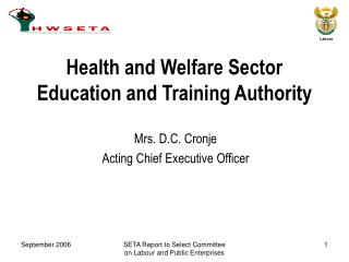 Health and Welfare Sector Education and Training Authority