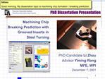 PhD Dissertation Presentation