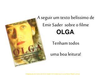 Adapta  o do texto de Emir Sader em slides por Lucia Irene Reali Lemos