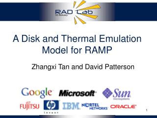 A Disk and Thermal Emulation Model for RAMP