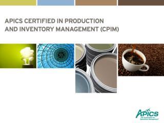 What is APICS CPIM