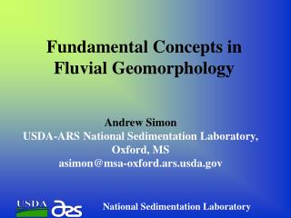 Fundamental Concepts in Fluvial Geomorphology