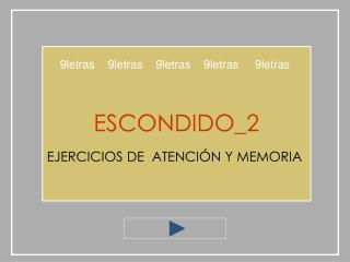 ESCONDIDO_2  EJERCICIOS DE  ATENCI N Y MEMORIA