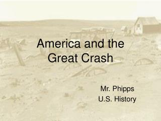 America and the  Great Crash