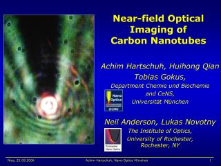 Near-field Optical Imaging of  Carbon Nanotubes