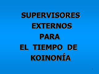 SUPERVISORES   EXTERNOS   PARA   EL  TIEMPO  DE   KOINON A