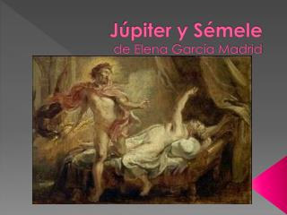 J piter y S mele  de Elena Garc a Madrid