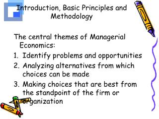 Introduction, Basic Principles and Methodology
