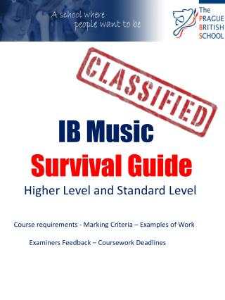 IB Music   Survival Guide  Higher Level and Standard Level