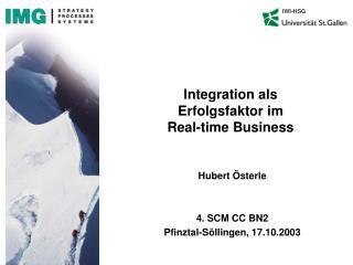 Integration als Erfolgsfaktor im  Real-time Business