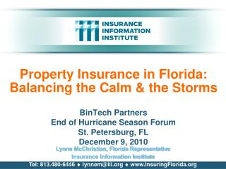 Property Insurance in Florida: Balancing the Calm  the Storms