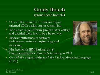 Grady Booch pronounced bootch