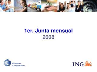1er. Junta mensual 2008