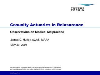 Casualty Actuaries in Reinsurance