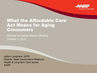 What the Affordable Care Act Means for Aging Consumers