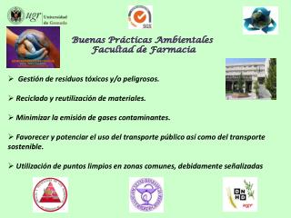 Buenas Pr cticas Ambientales  Facultad de Farmacia
