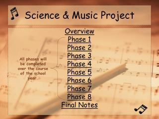 Science  Music Project