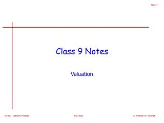 Class 9 Notes