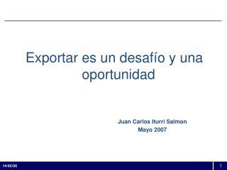 Exportar es un desaf o y una oportunidad