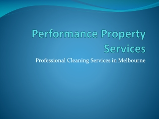 Performance Property Services - commercial window cleaning