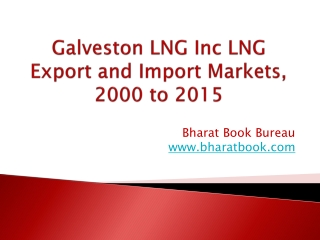 Galveston LNG Inc LNG Export and Import Markets, 2000 to 2015
