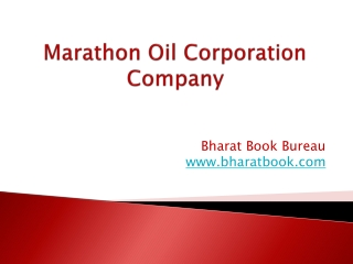 Marathon Oil Corporation Company Profile