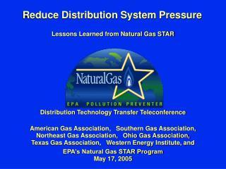 Reduce Distribution System Pressure