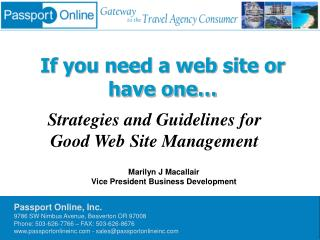 If you need a web site or have one