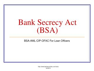 Bank Secrecy Act BSA