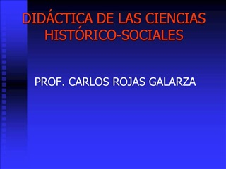 DID CTICA DE LAS CIENCIAS HIST RICO-SOCIALES