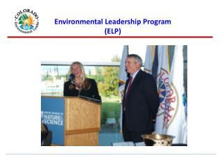 Environmental Leadership Program ELP