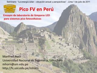 Pico FV en Per