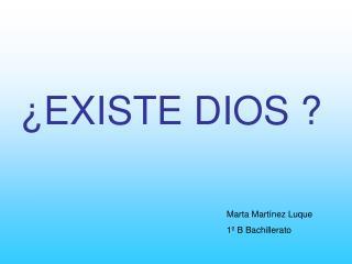 EXISTE DIOS
