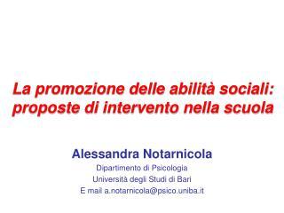 La promozione delle abilit  sociali:  proposte di intervento nella scuola