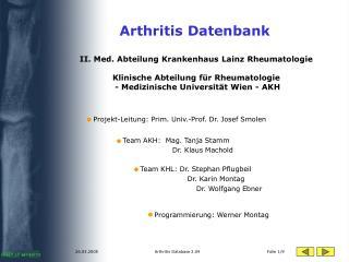 Arthritis Datenbank