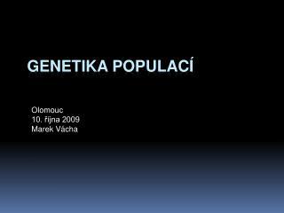Genetika populac