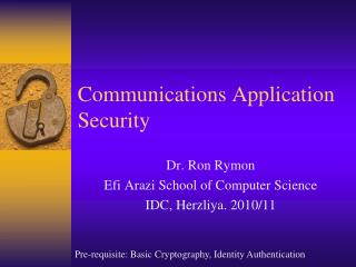 Communications Application Security
