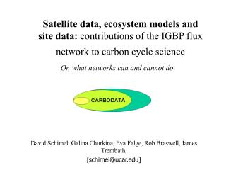 Satellite data, ecosystem models and site data: contributions of the IGBP flux network to carbon cycle science