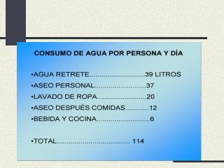CADA CIUDADANO EN LAS PALMAS DE GRAN CANARIA CONSUME 210 LITROS POR D A