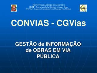 GEST O de INFORMA  O de OBRAS EM VIA P BLICA