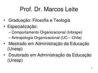 Prof. Dr. Marcos Leite