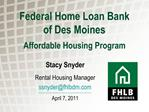 Federal Home Loan Bank of Des Moines