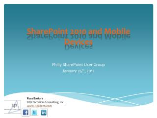 SharePoint 2010 and Mobile Devices