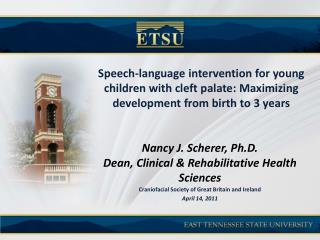 Speech-language intervention for young children with cleft palate: Maximizing development from birth to 3 years