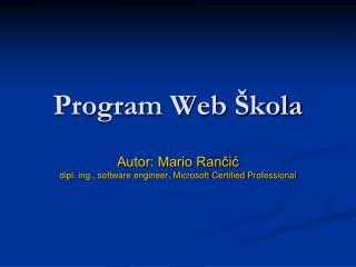 Program Web  kola
