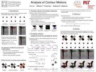 Analysis of Contour Motions Ce Liu    William T. Freeman    Edward H. Adelson