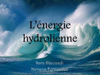 L  nergie hydrolienne