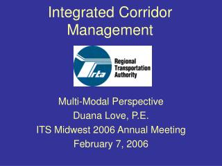 Integrated Corridor Management